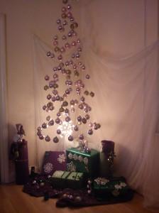 Negative Space Christmas Tree