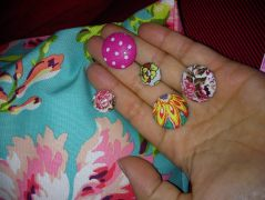 fabric buttons and cushion
