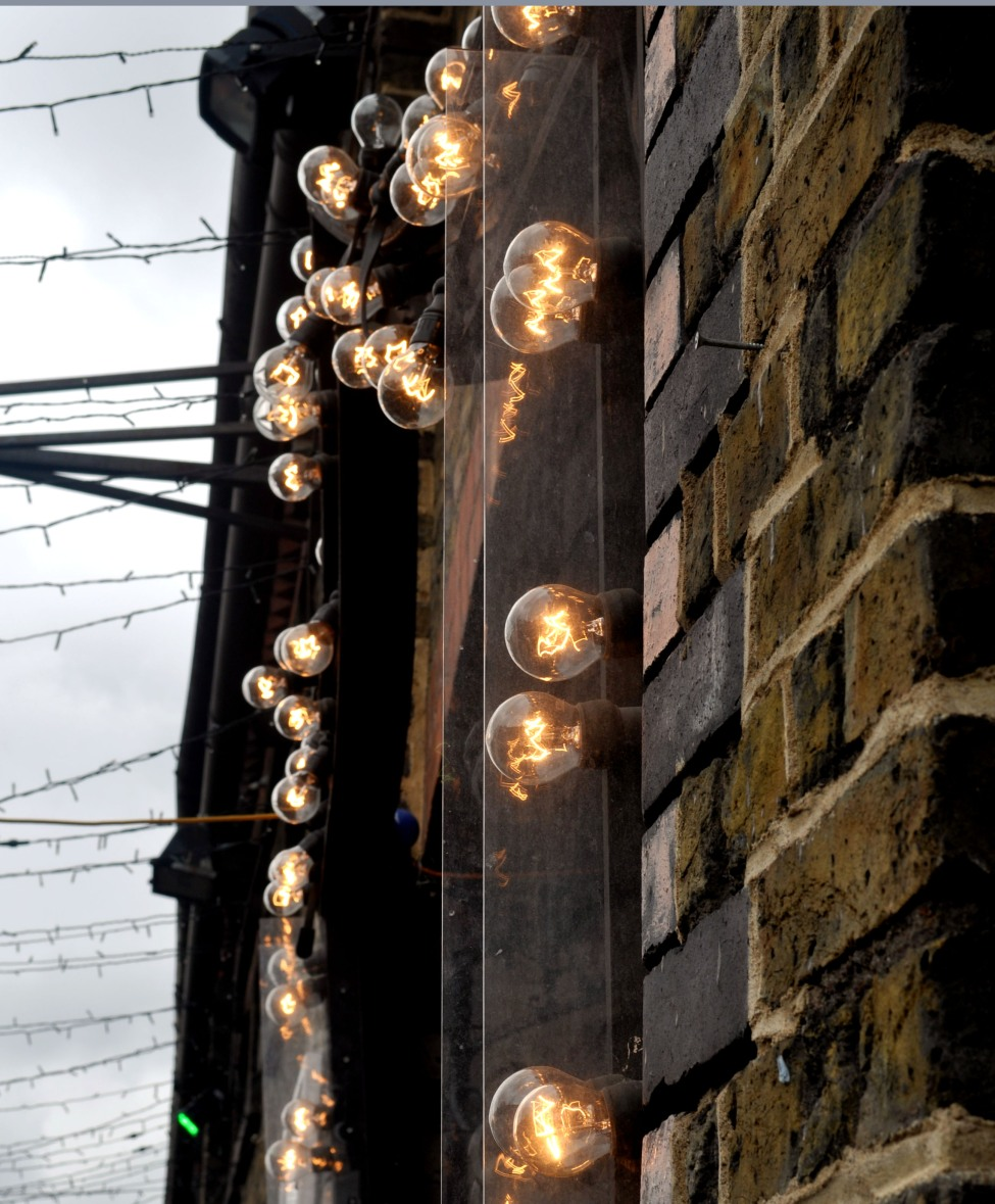 bulbs around a door in Camden