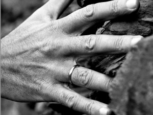 hand bw with blue filter