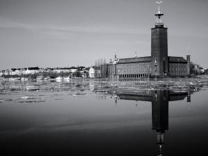 Stockholm Town Hall B&W