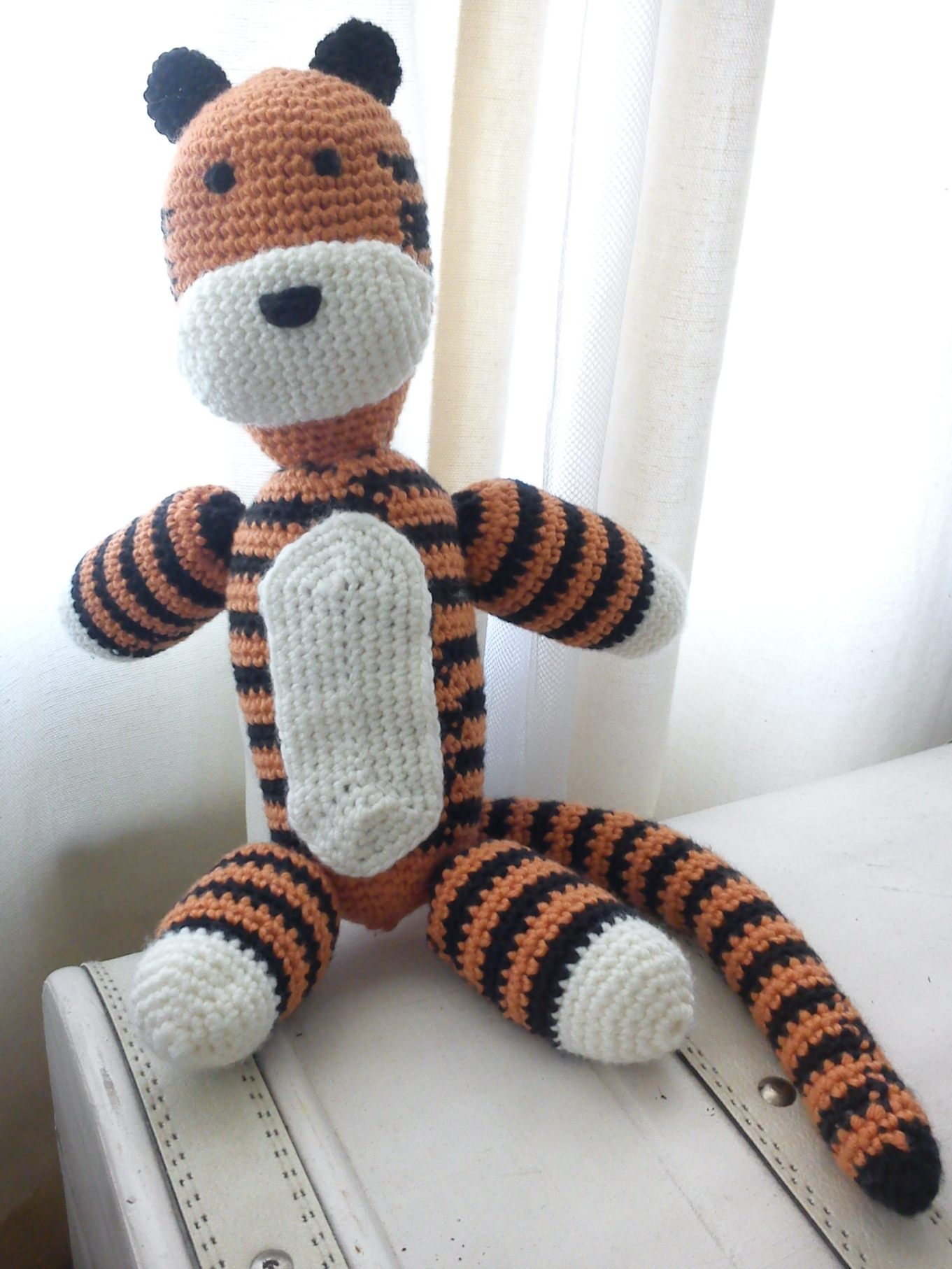 Hobbes Crocheted Toy