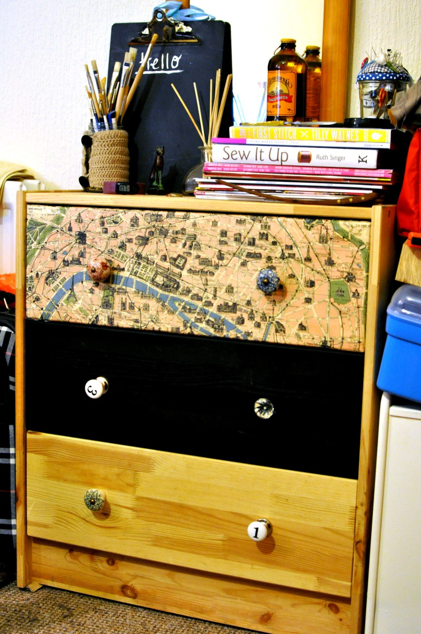 Chest of drawers in process of DIY