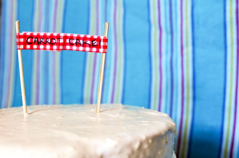 Detail on decoration for carrot cake by Marta Nava
