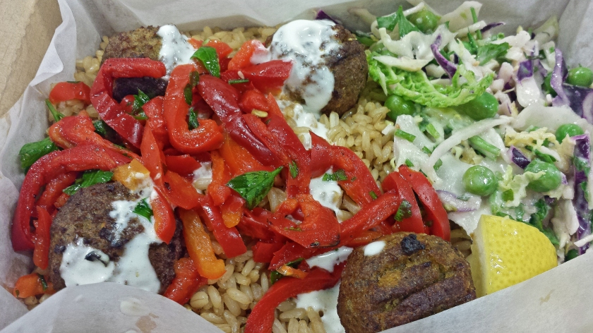 Sweet potato falafel from Leon